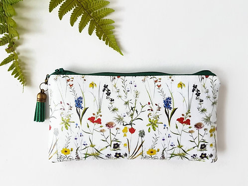 Botanical Phone sleeve,phone pouch,phone wallet,phone storage,botanical fabric