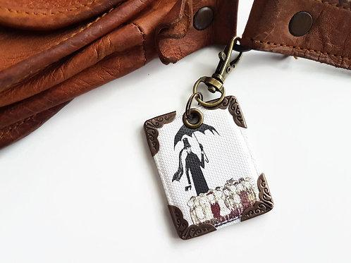 Edward gorey,keyring,bag charm, purse char,bag tag,bag accessory,key chain,charm