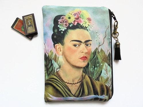 Frida Khalo, mexican, sewing pouch, zipper wallet, cometic bag, zipper wallet, s