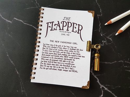 Flapper Girl  pocket pad with matching bulldog clip.