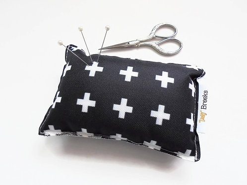 Sewing Gift, Crosses print, Pin cushion, seamstress gift, tailors gift, crafters