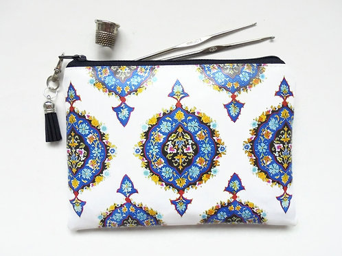 Islamic inspired vegan vinyl wallet.
