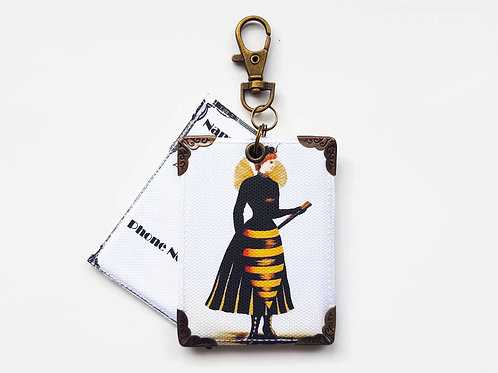 hornet girl,Suitcase Tags,bag accessory,bag tags,travel tags,holidays,eco gift