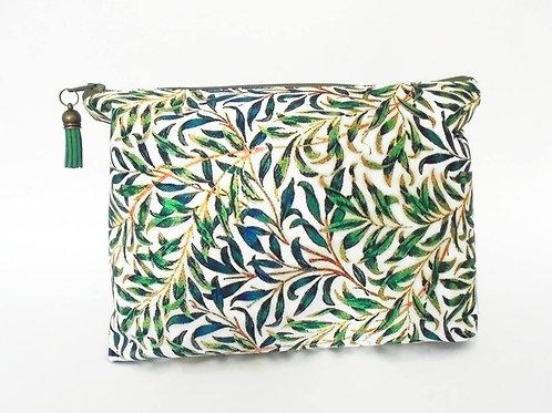 Canvas Wash bag, grass, green, jungle, dumpy bag, boxy bag,, travel bag