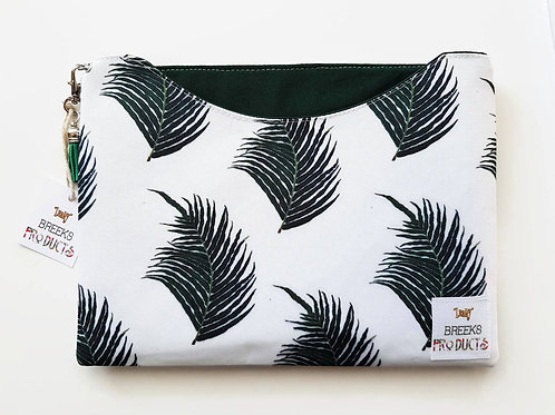 Fern print iPad 9.7 dust sleeve.