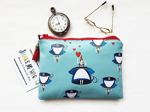 Alice in wonderland vegan vinyl wallet.