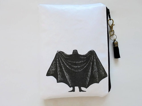 Edward Gorey, Dracula, waterproof wallet, zipper,