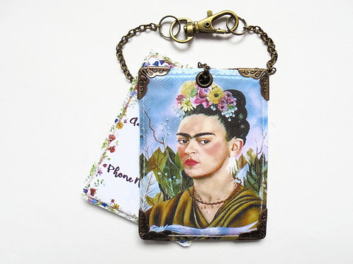 Frida Khalo floral luggage tags, baggage tags,