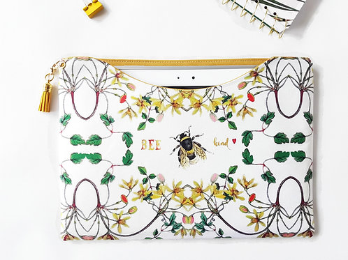 Bumble Bee print custom tablet sleeve.