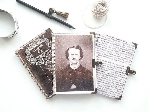 Edgar Allan Poe notepad set, blank journals.