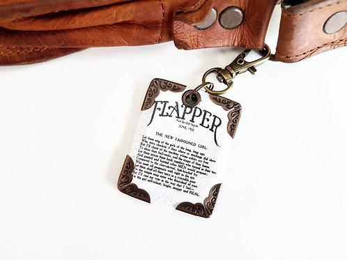 Flapper keyring,bag charm,key charm,keychain,lanyards,keyfobs