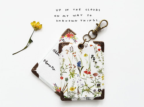 Botanical spray Print luggage tags,Travel gifts,floral print tags.