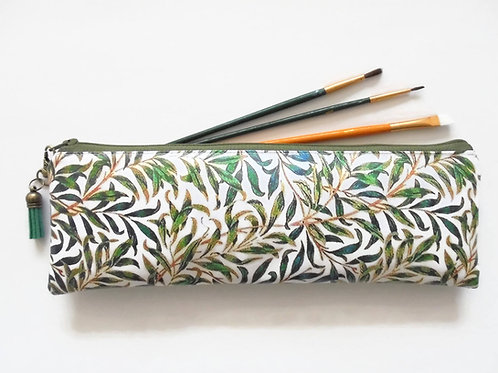 Back to school Art gifts, Waterproof Pencil Case, Green Grass Print, brush bag,