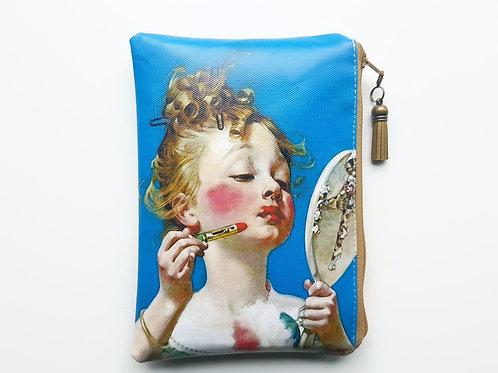Little girl vegan faux leather zipper bag.