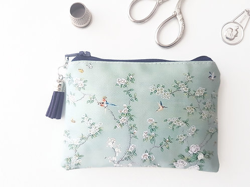 Chinoiserie vegan small wallet, animal freindly gifts.