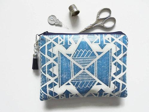 Navajo waterproof wallet, sewing pouch, eco vinyl wallet, zipper pouch.