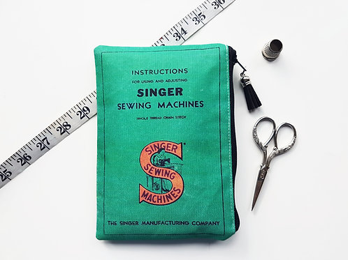 Canvas pouch, singer sewing, sewing gift, craft room, crafters, seamstress.