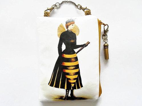 Hornet Lady hanging art bag.