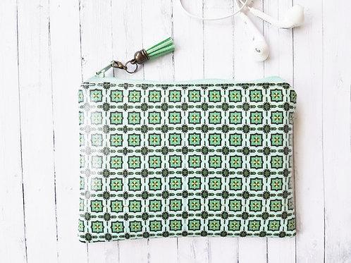 Minty Green Mix Vegan Wallet.