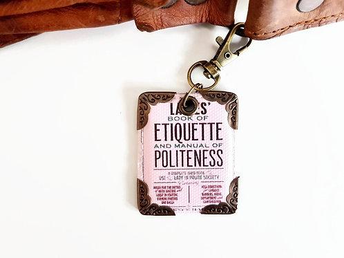 1920s artdeco etique,keyring,bag charm, purse char,bag tag,bag accessory,key cha