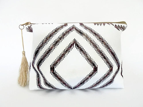 Gifts for her, Canvas Wash bag,Boho, gypsy, bohemian, cosmetic bag, zip bag