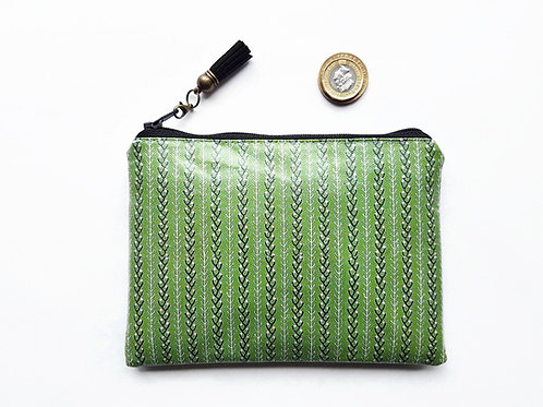 Green faux leather wallet,Waterproof Ladies Wallet, Glasses case,