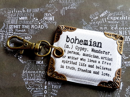 Bohemian bag tag,bag accessory.