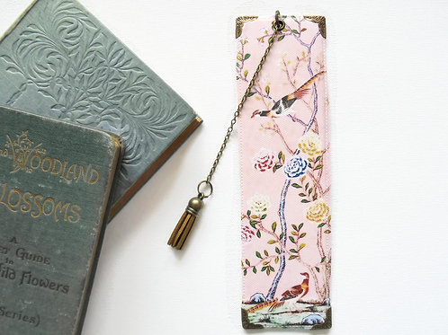 Pink chinoiserie, literary gift, book lover gift.