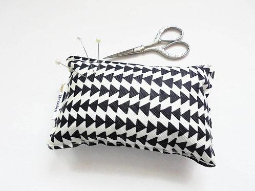 Sewing Gift, Arrow head print, Pin cushion, seamstress gift, tailors gift
