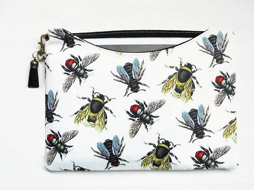 Custom iPad 9.7 inch sleeve, Vintage bees, bumble bees,
