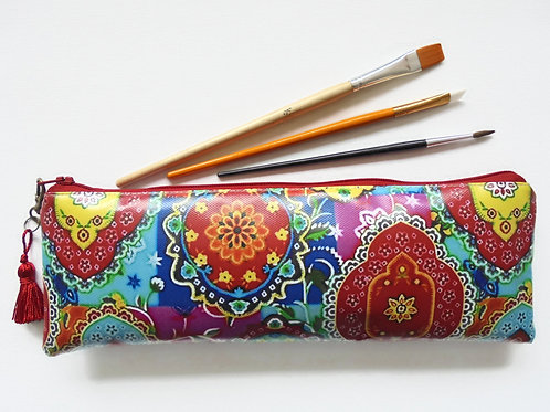 Back to school Art gifts, Waterproof Pencil Case, colourful brush bag, crochet s
