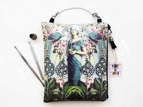 art deco,shabby chic,pretty makeup bag,cosmetic bag,hanging storage bag,travel
