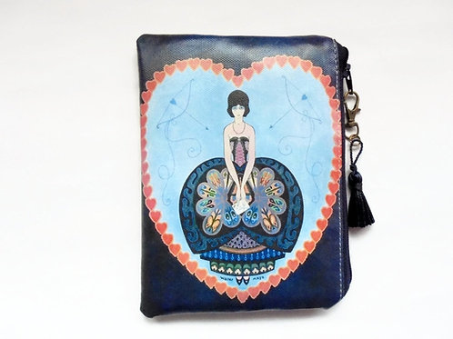 1920s Wallet Purse Cosmetic storage vegan vinyl zipper pouch