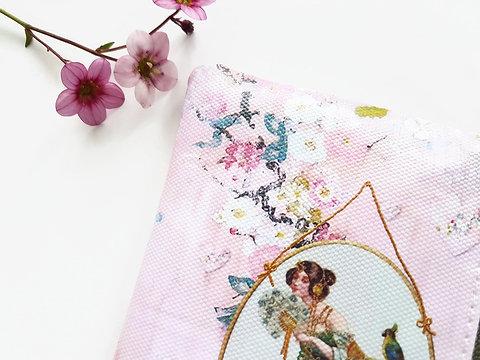 Chinoiserie Card Walletnovelty Giftsvegan Leather Pouchvegan Gift Ideassmall