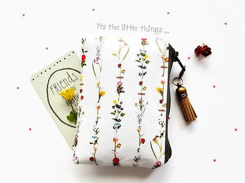 botanical business card holder,floral credit card,flowers business card Wallet,v