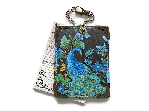 Peacock Luggage Tags,travel tags,bag tags.