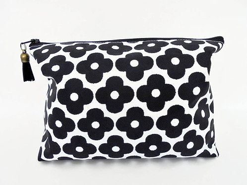 Canvas Wash bag, Mary Quant vintage print, cosmetic bag, zip bag, make up bag.