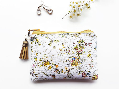 Ditsy floral vegan small wallet, animal freindly gifts.