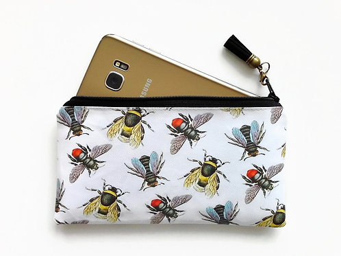 Phone sleeve,phone pouch,phone wallet,phone storage,bees