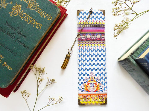 Indian print, literary gift, book lover gift, boho style.
