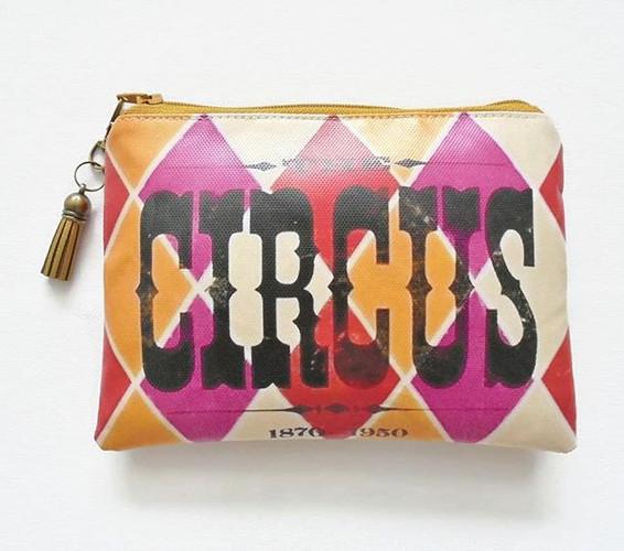 Vintage vegan circus wallet