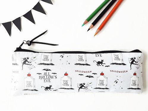 Halloween, All hallows eve, Pencil case,Art gifts,vegan vinyl pencil