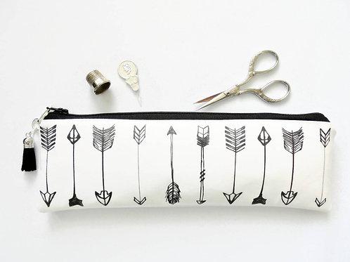 Arrows Pencil case,Art gifts,vegan vinyl pencil case.