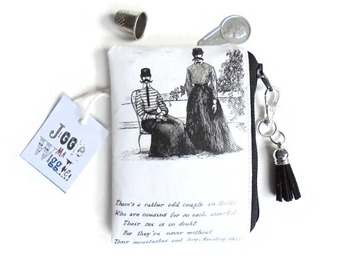 credit card sized wallet, edward gorey humour, business card holder ,credit card