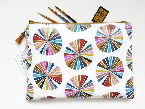Eco wash bag, travel bag, toiletries bag, colour wheel, colourful pouch, zipper