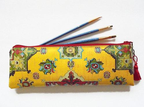 turkish, kilim, persian, brush case, make-up brush bag,