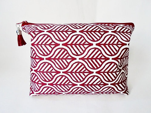 Gifts for her, Canvas Wash bag,Boho, Indian block print, boxy bag, cosmetic bag,