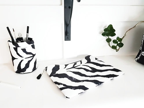 Custom tablet sleeve, zebra print