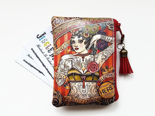 Queen bee print, ladies wallet, girlfriend gift.