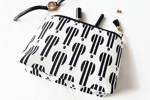 Canvas Monochrome, Top Hat & Tails make-up bag.
